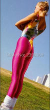 (LG36) Unisex Lycra Spandex Tights Solid Color Opaque Zentai Legging Fetish Wear Customize Size