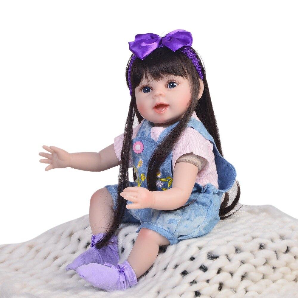KEIUMI Vendita Calda 22 Pollici Reborn Baby Doll 55 centimetri di Stoffa Del Corpo Vivo Realistica Neonato Bambini Bambola Per Il Bambino di Natale regali di compleanno-in Bambole da Giocattoli e hobby su  Gruppo 3