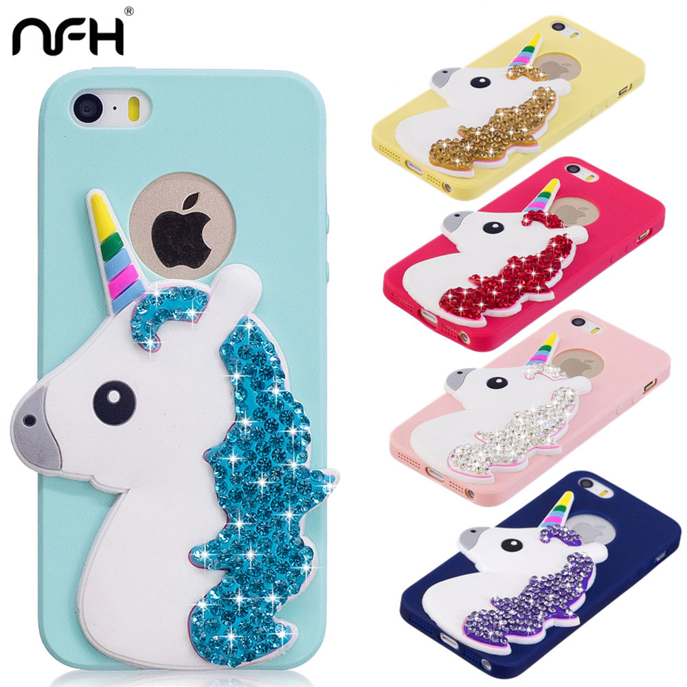 5 5S Silicone Case For iphone On 5 5S SE Girl Cute