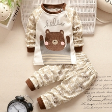 BBYIFU Baby Boys Clothes Set Cotton Newborn Baby Girl Boy Clothing Long Sleeve T Shirt +Pant Suits Autumn Infant Costume Outfit