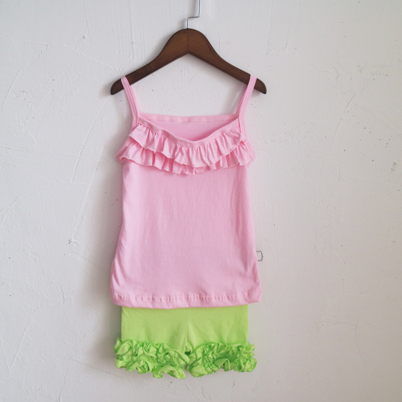 4b4015231972d fashion baby girl summer set two piece icing simple outfits ruffle ...