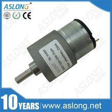 цена на ASLONG JGB37-520 24v carbon brush pure metal gear dc gear motor/12v dc motor with gear reduction