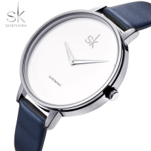Shengke Women Watch Minimalist Personality Classic Slim leather strap Business Fashion Mix Match Lady Quartz Wrsitwatch SK New