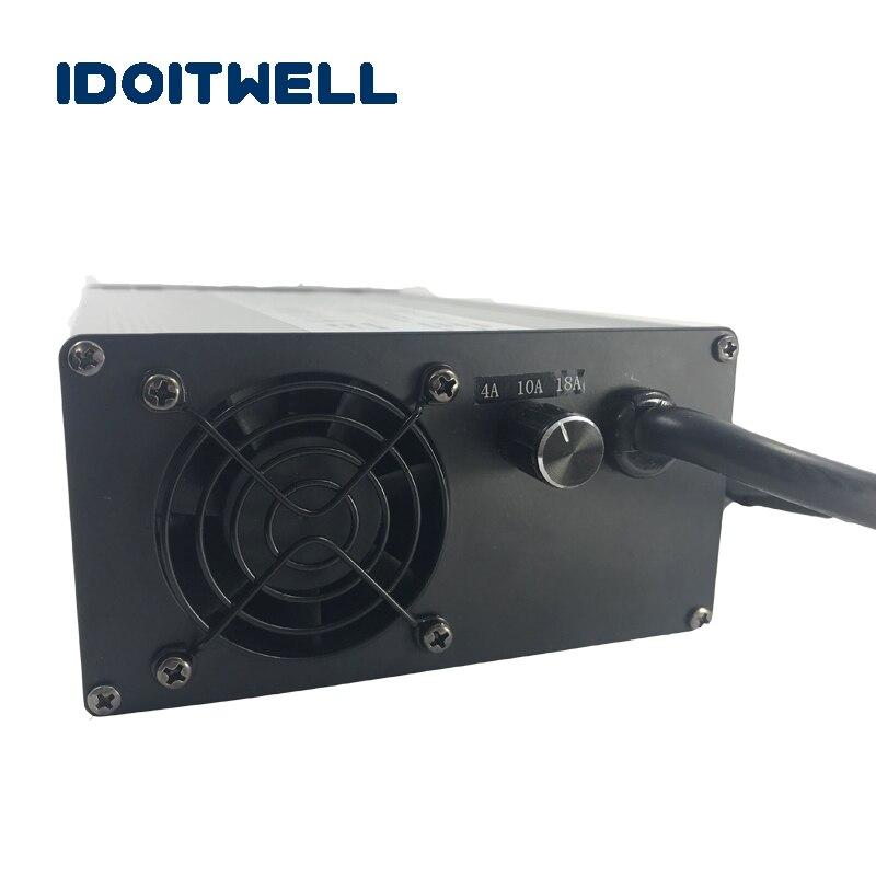 Подгонянное зарядное устройство для аккумулятора 900 Вт 60 В 12А 8А, регулируемое зарядное устройство для свинцово кислотного или литиевого ил