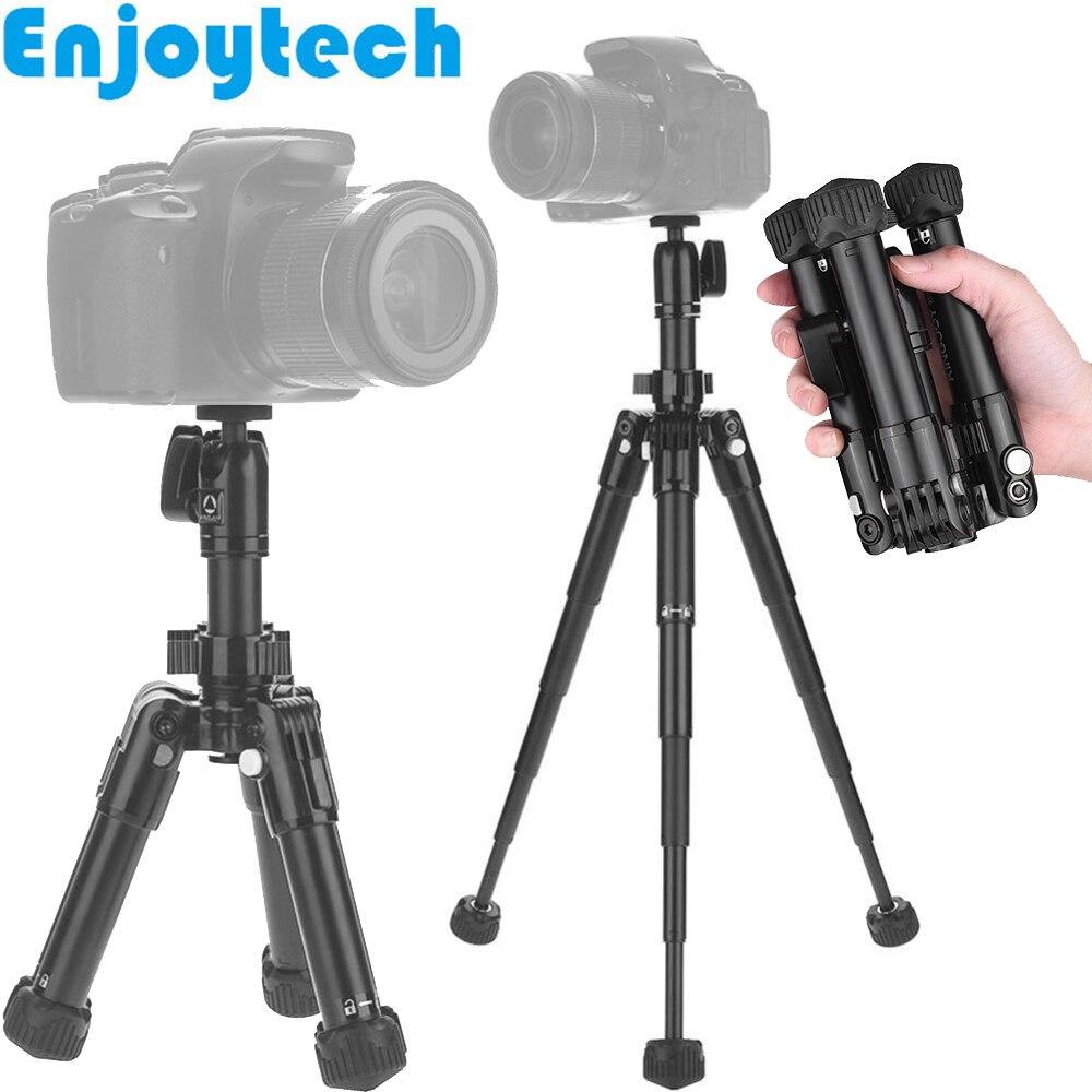 Mini trépied en alliage d'aluminium avec tête sphérique pour Canon Nikon appareils photo reflex numériques Sony DV Supports de trépied portables avec support pour téléphones