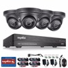 SANNCE 8CH 1080P CCTV Security Camera System HD 1080P DVR Kit 4PCS 2 0MP Surveillance Cameras