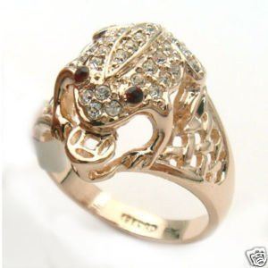 pertty Jewellery Golden Coin Red Eyes Frog RING ringe Free Shipping