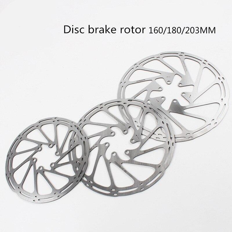Disco de freio da bicicleta rotor 160 180 203mm mtb disco centro linha discos rotores alta refrigerar almofadas ocas