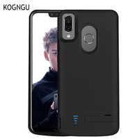 Kogngu Fashion Metal Frame Battery Full Charger Case for Huawei Honor Play 5000mAh Back Clip Battery Wireless Fast Charger