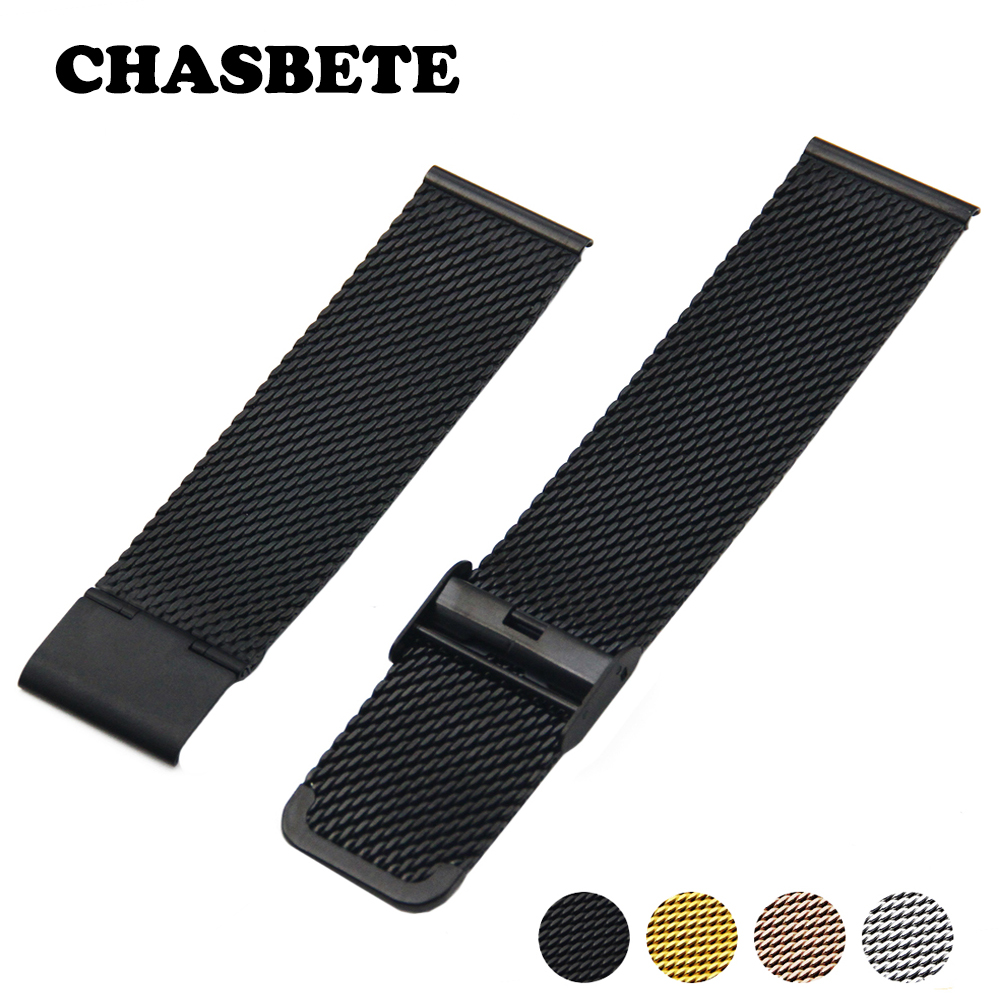 20mm 22mm 24mm Stainless Steel Watch Band for Diesel Watchband Men Women Metal Strap Wrist Loop Belt Bracelet Black Silver + Pin high quality milan stainless steel watchband 20mm 22mm men and women black brown watch strap for breitling strap bracelet