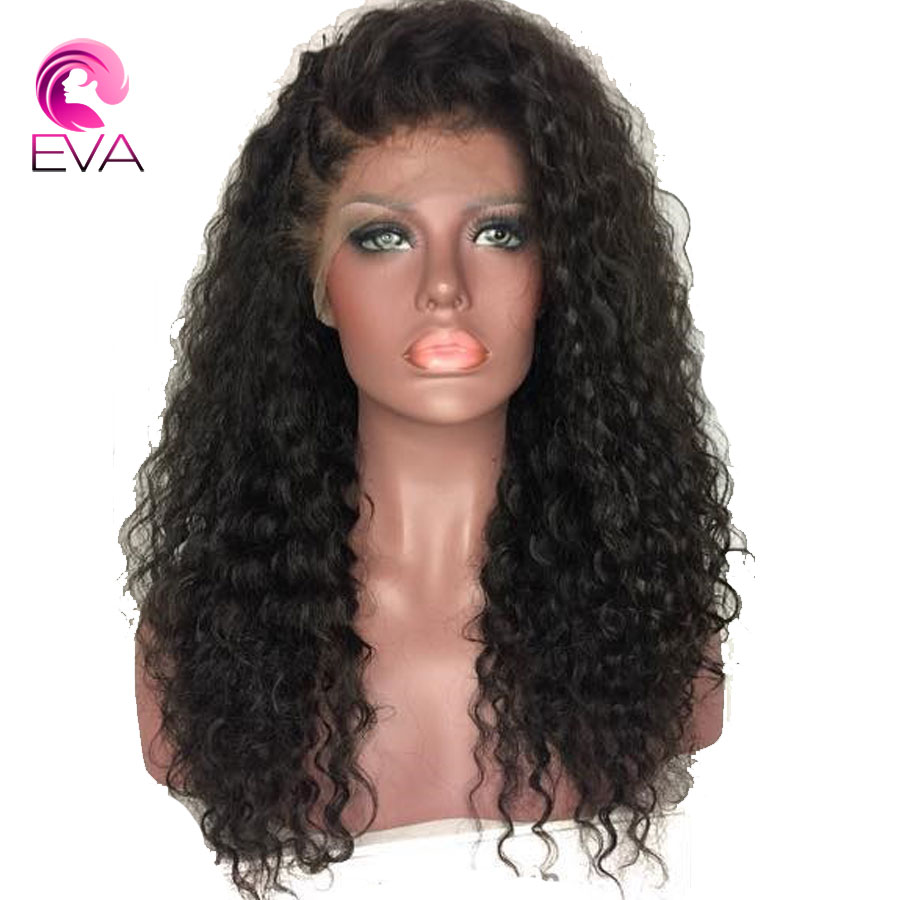 Eva Hair 360 Lace Frontal Wigs With Baby Hair 180 Density Brazilian Remy hair Pre Plucked