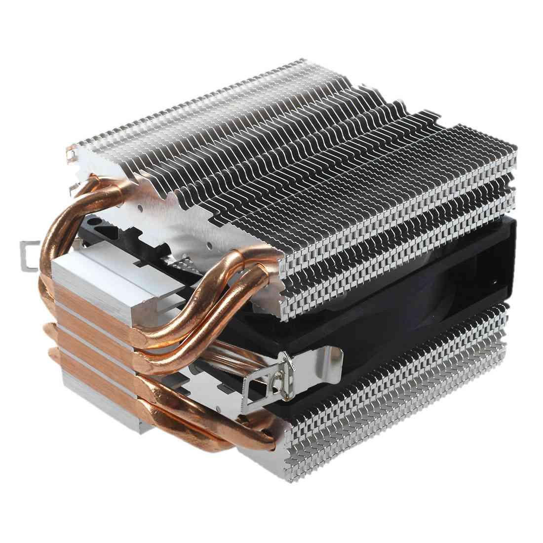 4 Heatpipe CPU Cooler Heat Sink for Intel LGA 1150 1151 1155 775 1156 New процессор intel pentium g620 cpu 1155 h61