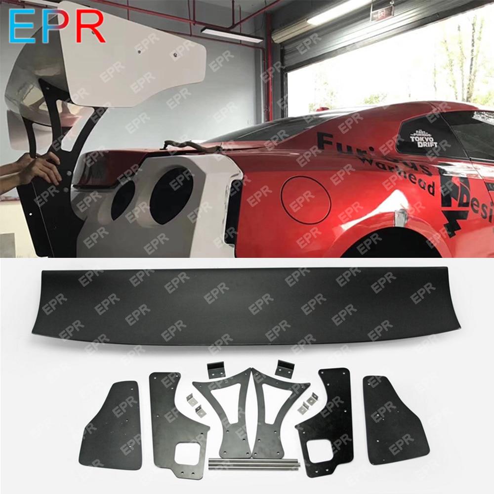 For Nissan GTR R35 CBA DBA LBV2 Style Glass Fiber V3 Rear Wing Sets Body Kit Tuning Part For R35 GTR Fiberglass Rear Spoiler serial cable