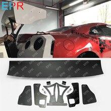 For Nissan GTR R35 CBA DBA LBV2 Style Glass Fiber V3 Rear Wing Sets Body Kit Tuning Part Fiberglass Spoiler