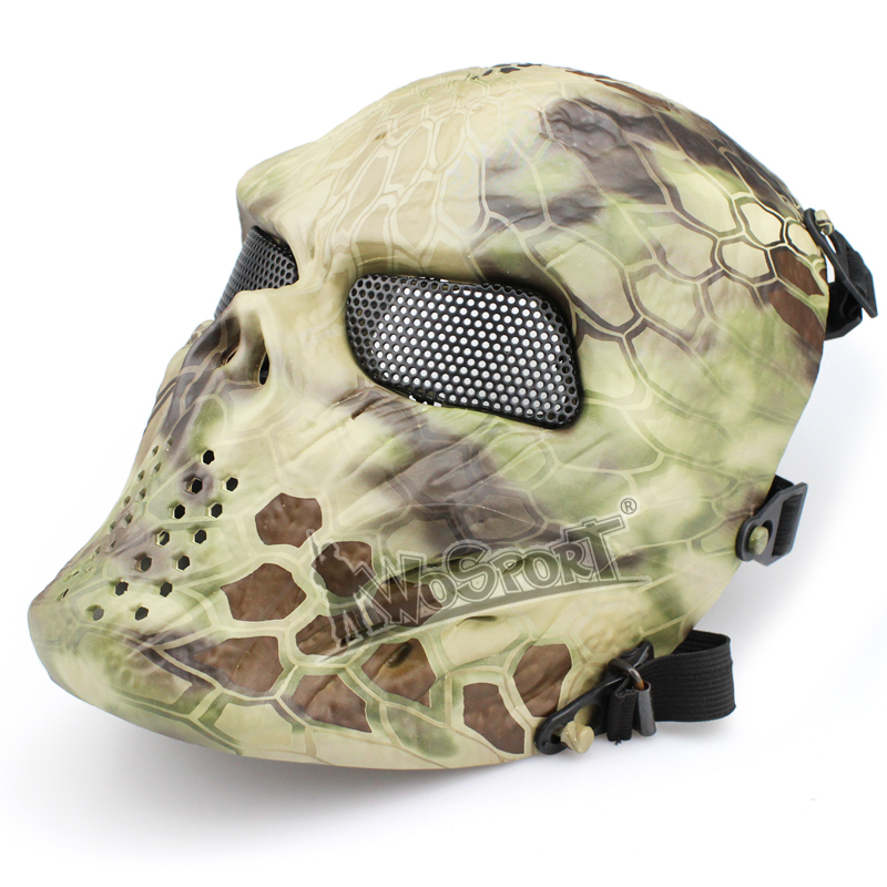 WoSporT Tactical V4 Ghost Metal Mesh Mask for Halloween Party Grimace mask War Game Accessories Tactical Skull Mask