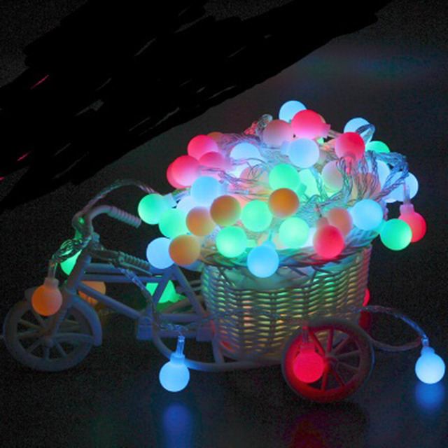 10m 100leds string lights 220v christmas wedding party lights decoration round ball led bulb outdoor lantern