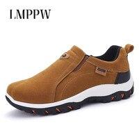 Большой Размеры 39-47 открытый Повседневное Для мужчин обувь модные дышащие кроссовки Классический бренд Для мужчин кожаные повседневные Ло...