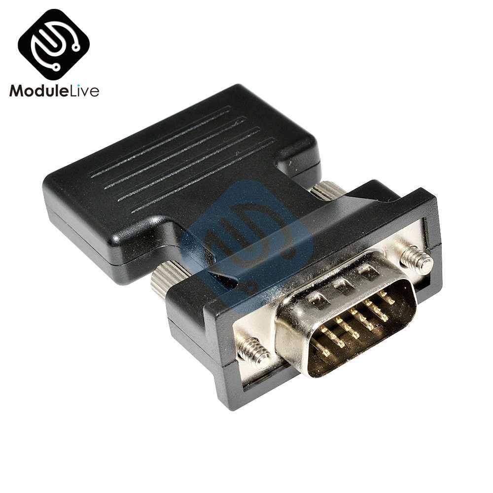HDMI untuk VGA Adapter Converter HDMI Male Female Ke Vfa Kabel Audio Video 1080 P untuk PC Laptop TV monitor Proyektor