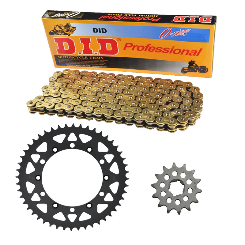 Quality MOTORCYCLE 520 CHAIN Front & Rear SPROCKET Kit Set FOR Kawasaki KX250 E1,F1,G1,H1-H2,J1-J2,K1-K5, KX500 C1,D1,E1-E16 1 set motorcycle front