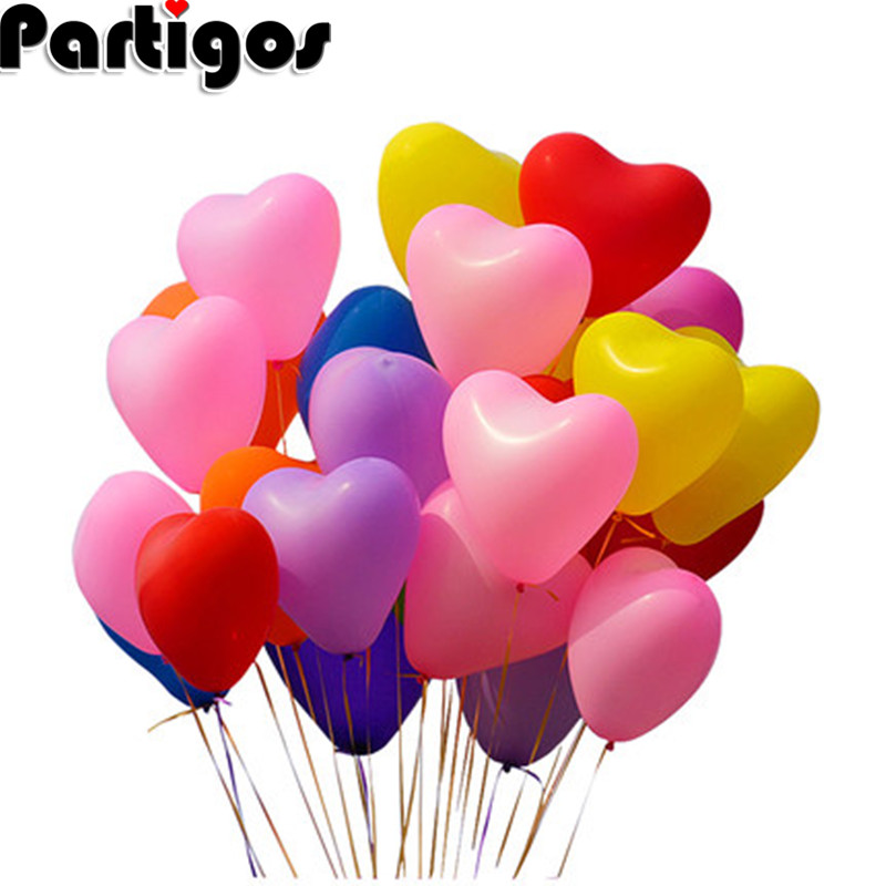"LARGE HEART SHAPE 10/"" BALLOONS HELIUM BIODEGRADABLE wedding/< birthday party XMAS"