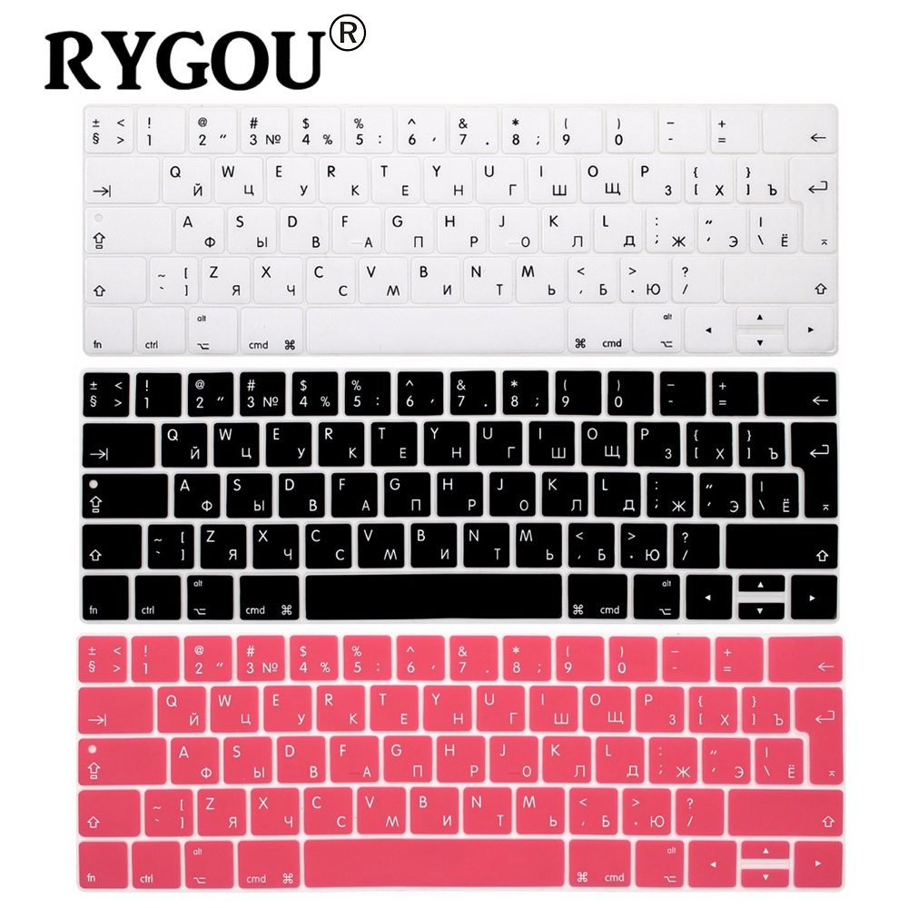 Eu Euro With Russian Letters Keyboard Stickers For New Macbook Protector Silicone 14 Inch Pro 13 15 Touch Bar Cover