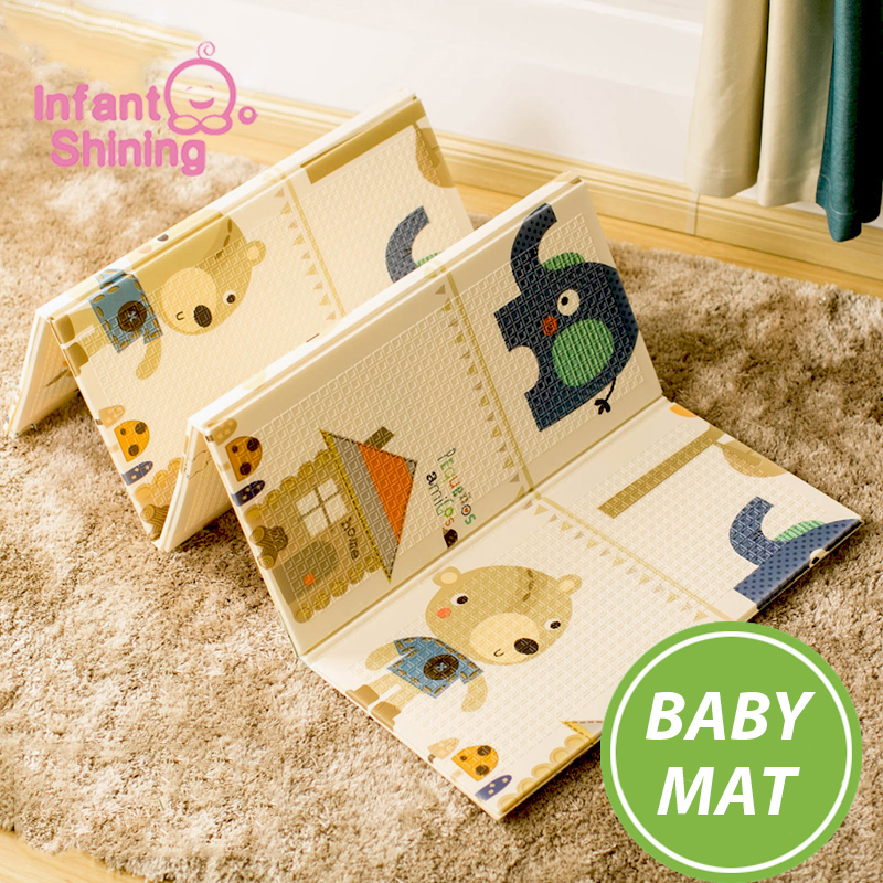 Infant Shining Portable Foldable Baby Climbing Pad Baby Play Mat Foam Pad XPE Environmental Tasteless Parlor
