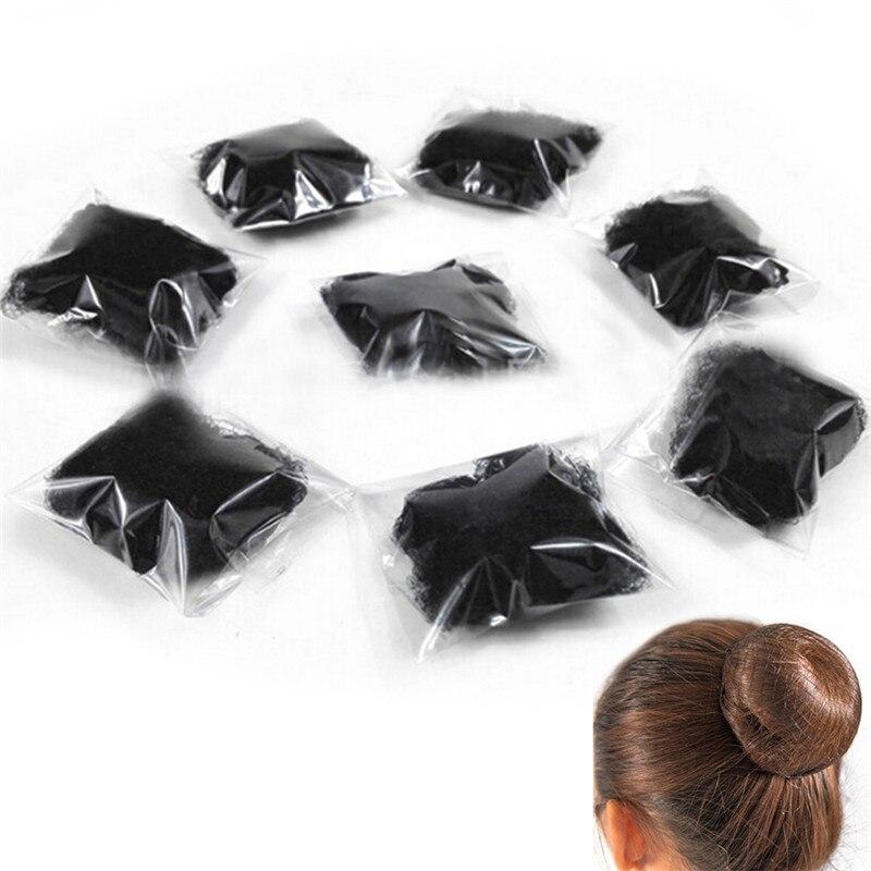 2/5pcs Women Ballet Dance Skating Snoods Black Hair Net Bun Cover Styling Headwear Accessories 10 Cm Free Shipping