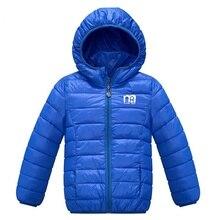 Дети Дети Зима Вниз Пальто девочка одежды детская одежда мальчика