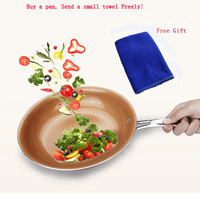 Non Stick Copper Pan Skillet With Ceramic Coating Induction And Gas Cooker Oven Dishwasher Frying Pan