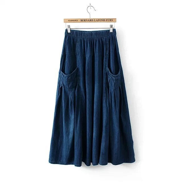 Long Jean Skirt Promotion-Shop for Promotional Long Jean Skirt on ...