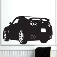Carved Race Sports Car Nissan GTR Wall Decal Removable Art Home Decor Wall Sticker Vinyl Mural