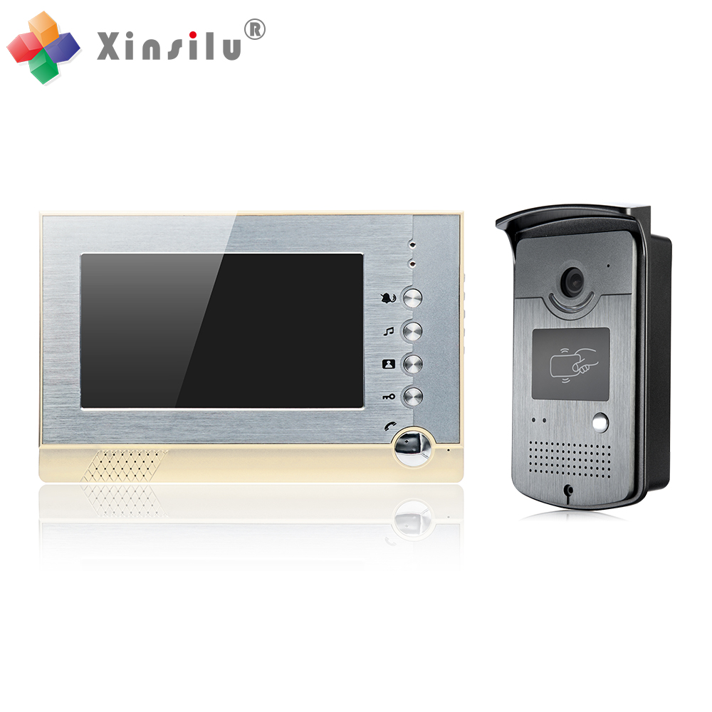 7 Inch ID Card Access Control Video Door Phone Support SD Card ...