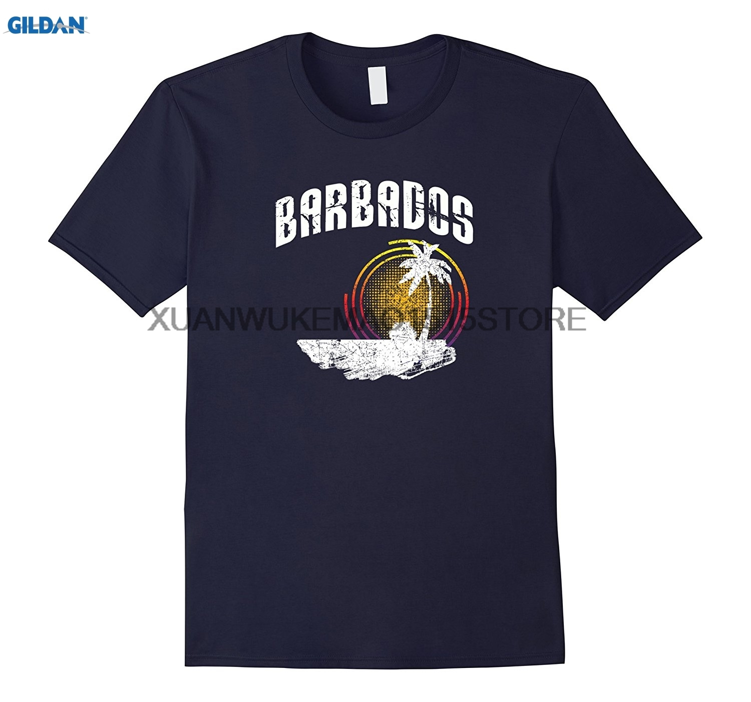 GILDAN 100% cotton O-neck printed T-shirt Barbados T-shirt Bridgetown Caribbean Island Shirt