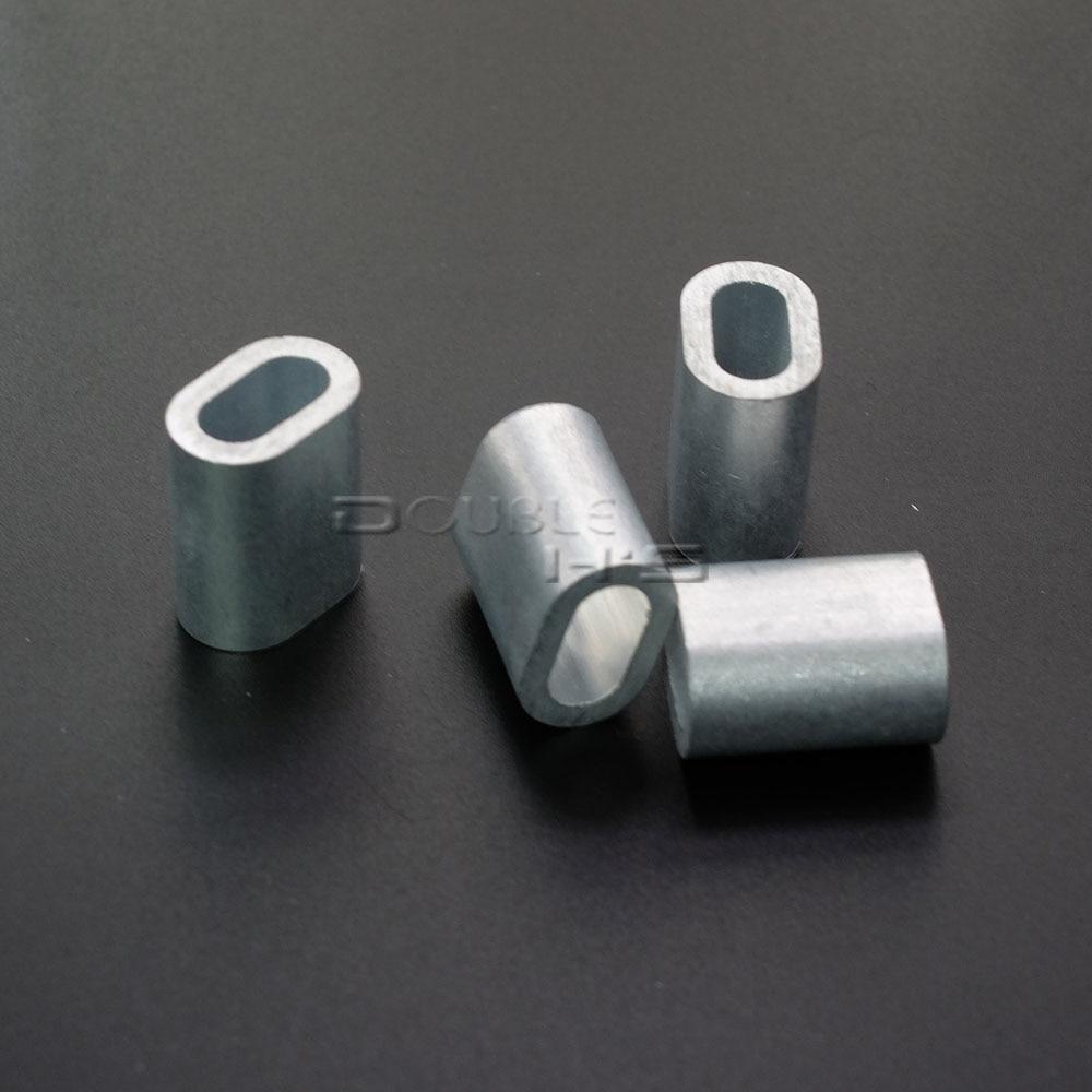 20pcs/lot Aluminum Cable Crimp Sleeve Cable Ferrule Stop for Snare ...