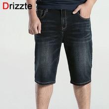 Drizzte Для мужчин S Plus Размеры 36 38 40 42 44 46 48 черный синий стрейч легкий синие джинсы Джинсы для женщин Шорты для женщин для Для мужчин Джинсы для женщин