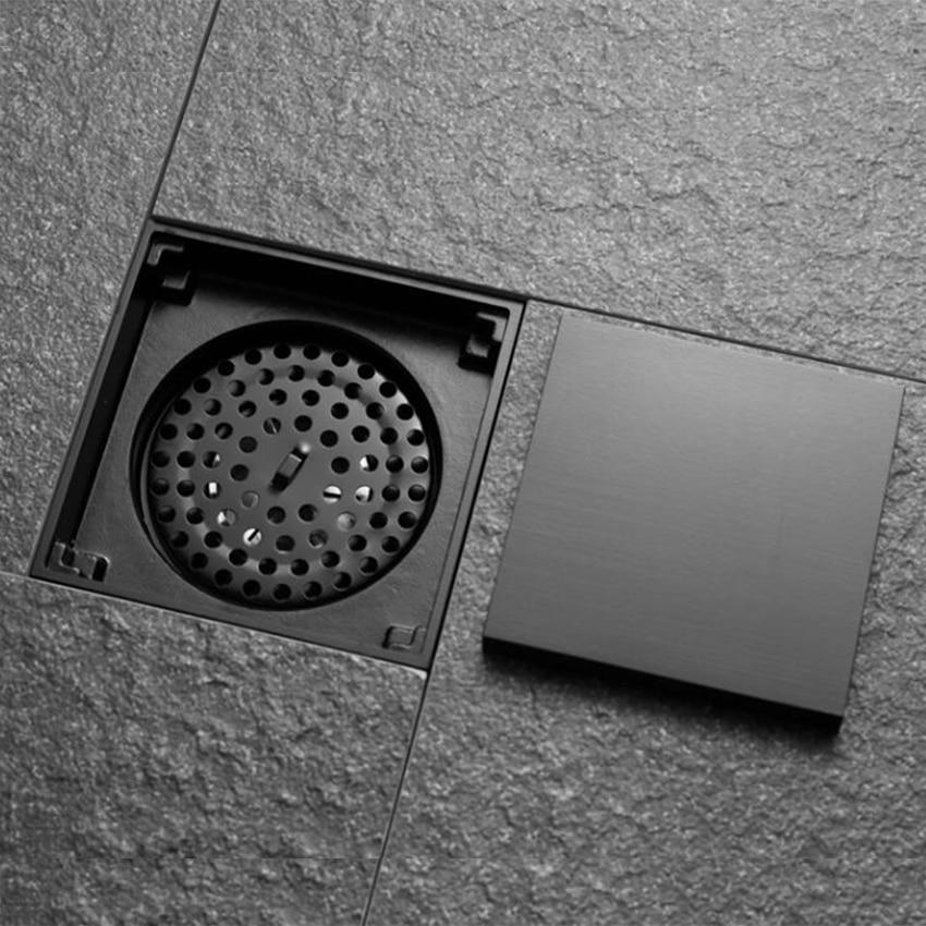 black solid brass 100 x 100mm square anti odor floor drain ...