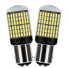 Canbus 1157 P21/5W BAY15D, 2 pièces, Canbus sans erreur OBC, Super lumineux 144 SMD LED 21/5W, feu de freinage automatique, feux arrière de voiture, feux antibrouillard, clignotants, ampoule
