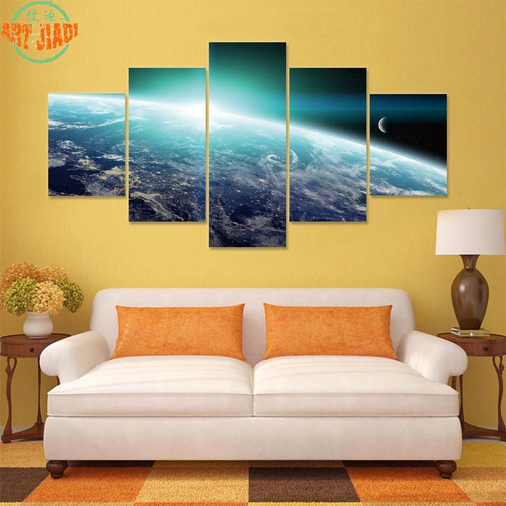 4 Piece/set or 5 Piece/set Canvas Art Four Season Tree HD Canvas ...