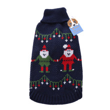 TAONMEISU Santa Claus Pet Dog Sweater Christmas Holiday Festival cat dog costome Machine washable coat for small dogs