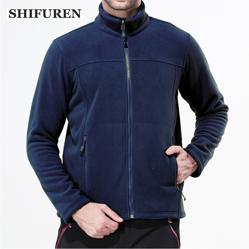 SHIFUREN Winter Warm Men Fleece Hiking Jacket Long Sleeve Thermal Outdoor Climbing Fishing Trekking Camping Jackets And Coats цена 2017
