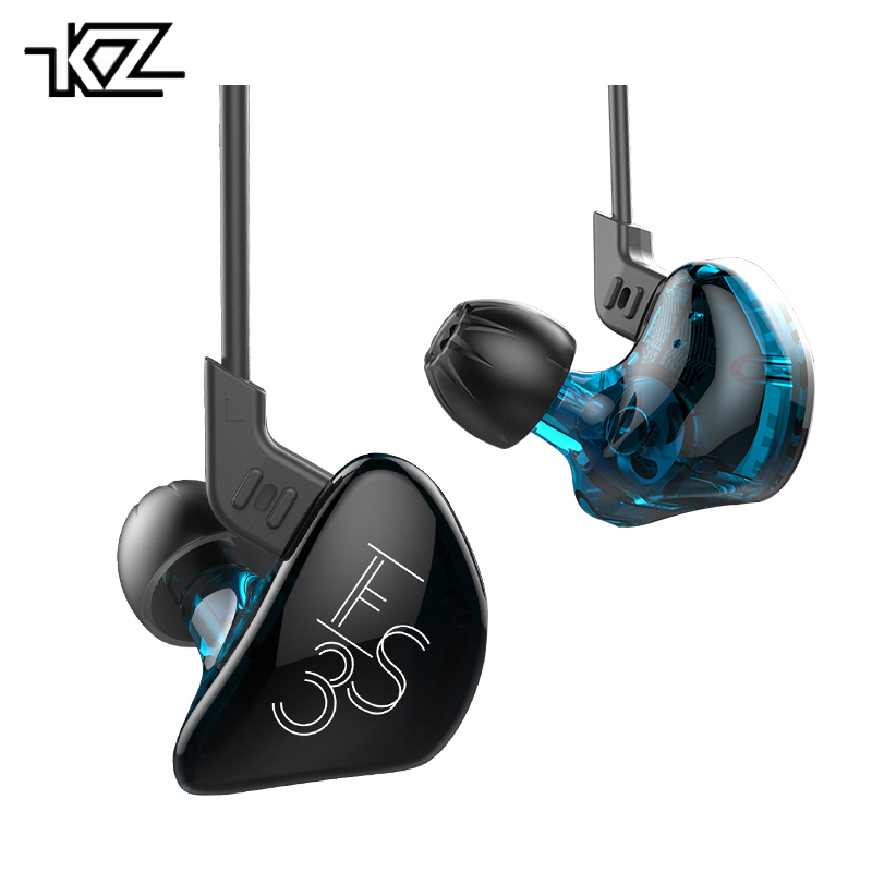 Original KZ ES3 In Ear Earphone Balanced Armature With Dynamic Dual Unit Driver Noise Ca ...