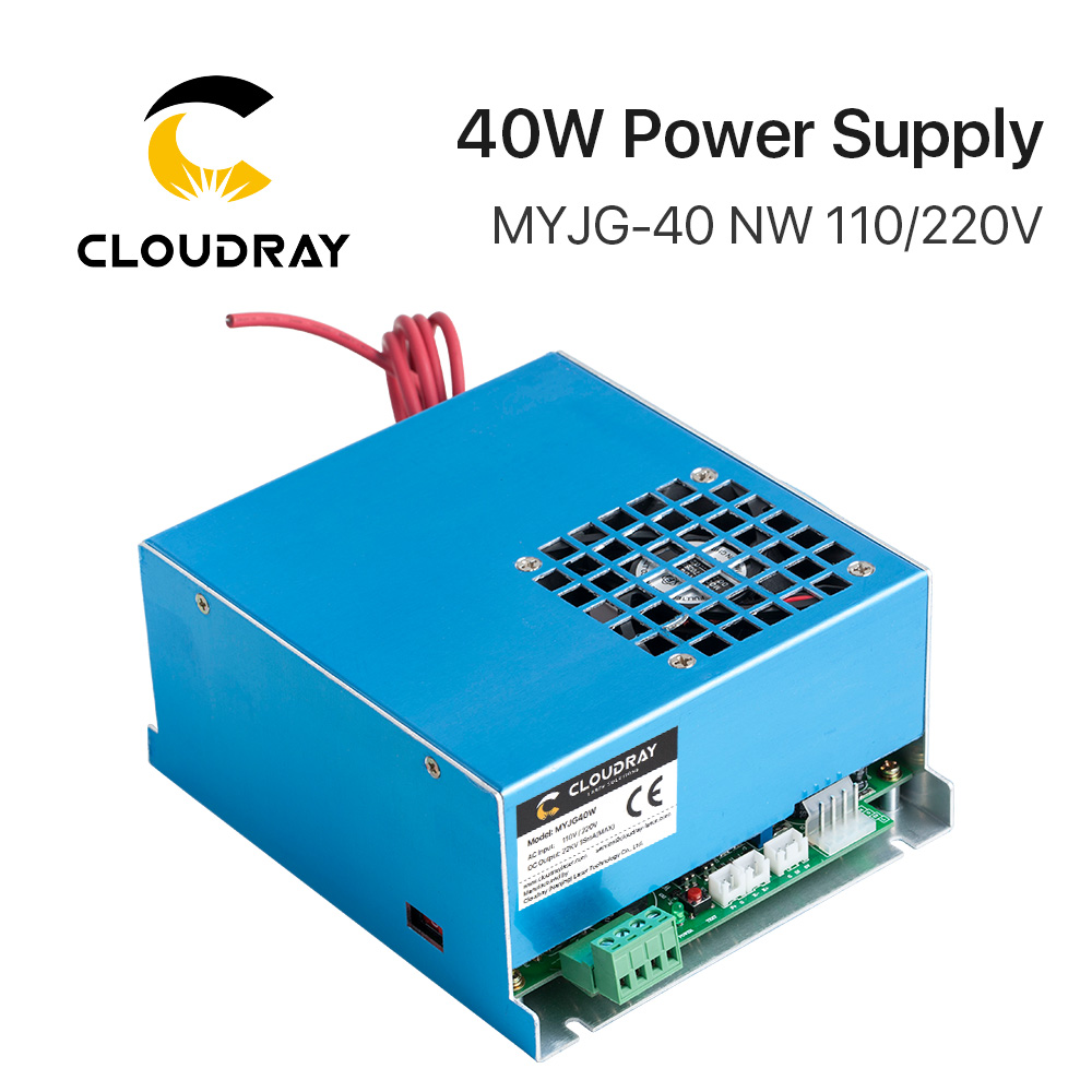 Cloudray 40W CO2 Laser Power Supply MYJG 40 110V 220V for CO2 Laser Engraving Cutting Machine