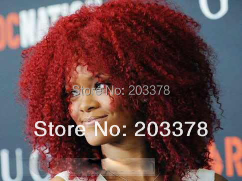 New Fashion Celebrity Hairstyles Rihanna's Red Synthetic wig 10pcs/lot mix order