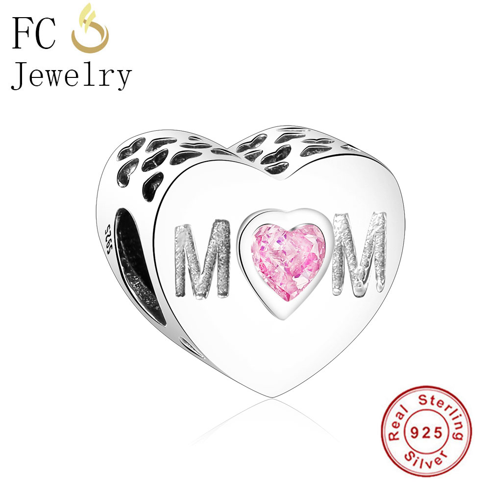FC Jewelry Authentic 925 Sterling Silver Love Hearts Shape Beads Fit Original Pandora Charms Bracelet DIY MOM Gifts Berloque