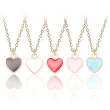 New Fashion Creative DIY Gold Enamel Alloy Small Pendant Multicolor Love Ladies Children Jewelry To Send Lover Gift
