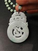 Hạng A chất lượng hàng hóa các đá gốc Chạm Khắc hai màu hollow out các rồng mặt dây chuyền vòng cổ Hấp Dẫn người đàn ông phong cách