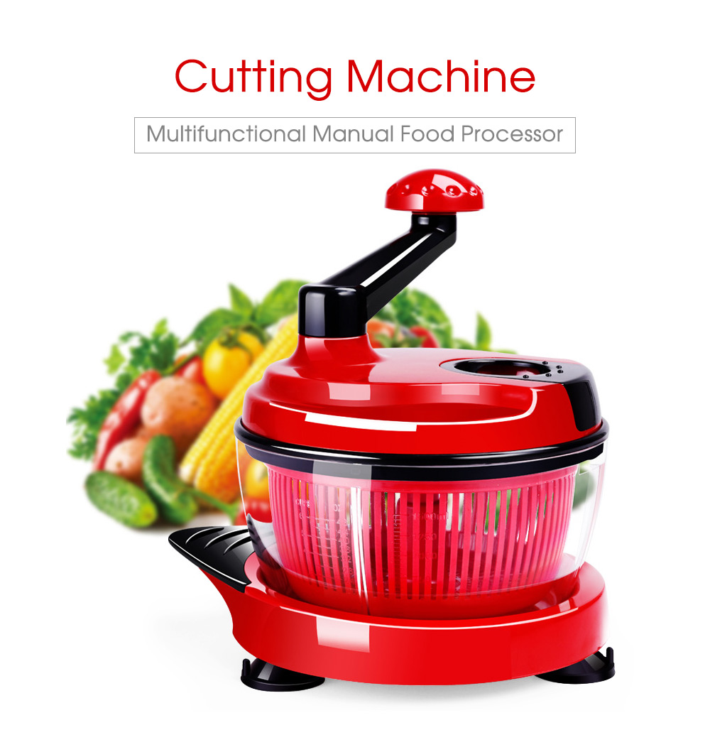 Manual meat grinder household multi - function vegetables cutter liquefier