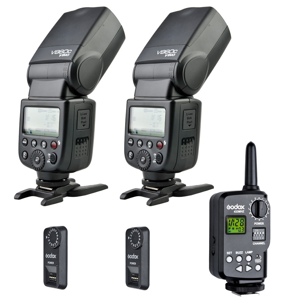 Godox V860C New Li-ion Speedlite Flash With FT-16S Wireless Trigger Transimitter And  Receiver For Canon Camera Flash aputure 16 channel flash speedlite