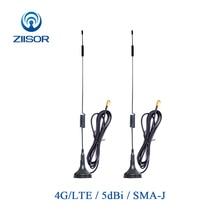 2 sztuk 4G Wifi Antena 3G GSM LTE magnetyczny Router Antena internetowa do komunikacji SMA mężczyzna Omni Antena Antena TX4G XPL 300