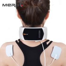 חשמלי דופק צוואר לעיסוי גוף טיפול מגנטי עיסוי הקלה כאב חוליית צוואר טיפול הרפיה טיפולים USB טעינה